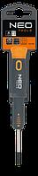 Викрутка шлицевая прецизійна 2,5х40мм NEO 04-083