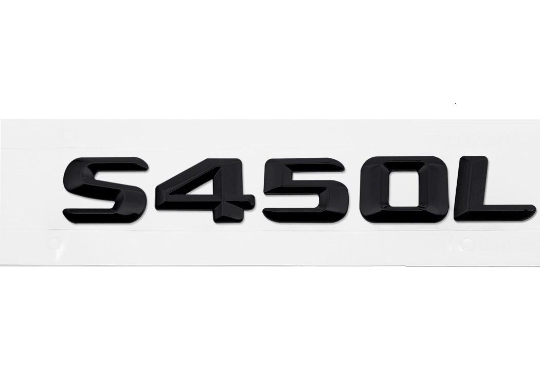 Матовая Эмблема Шильдик надпись S450L Мерседес Mercedes