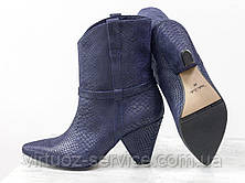 Ботинки женские Gino Figini Б-1902-13 из натуральной кожи 38 Синий, фото 3