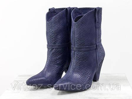 Ботинки женские Gino Figini Б-1902-13 из натуральной кожи 38 Синий, фото 2