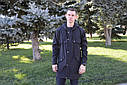 Плащ мужской черный, бренд ТУР модель Jack, фото 2