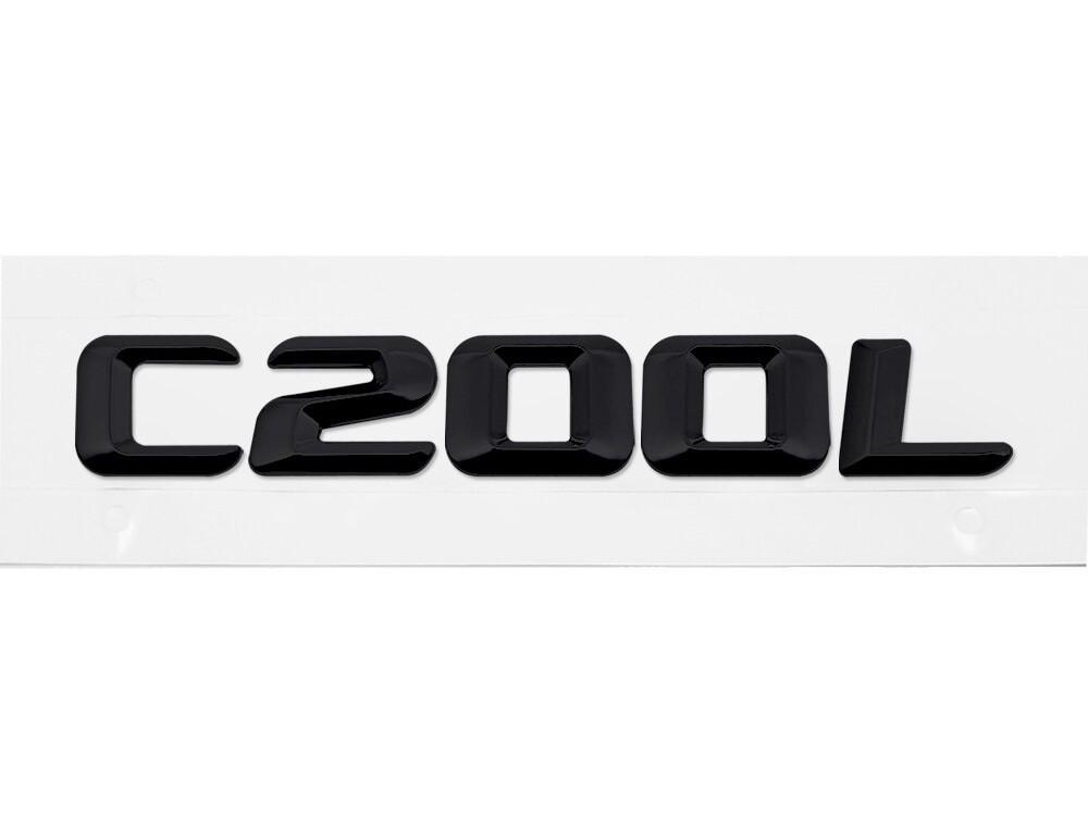 Матовая Эмблема Шильдик надпись C200L Мерседес Mercedes