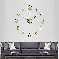 3D настенные часы большого диаметра 4228 Gold