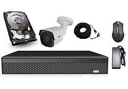 Элитный комплект видеонаблюдения Longse 4M1N c 1 камерой 4 Мп + HDD 250, КОД: 146791