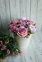 Букет из мыла ручной работы 3 (пять мыльных цветков)