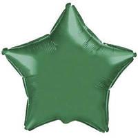 Фольгированный шар Ультра Звезда 18см х 45см Зеленый