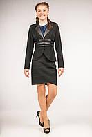 Пиджак школьный приталенный для девочек-подростков, размеры 34, 36, 38, 40. (П-73)