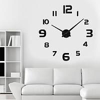 3D большие часы на стену 4227 Black