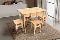 Кухонный набор  из массива бука (стол и 4 табурета)