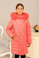 Зимняя теплая куртка на девочку в разных расцветках