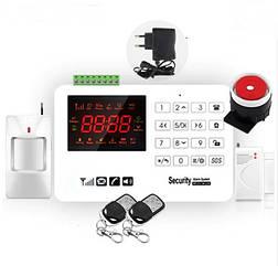 Комплект сигнализации GSM Alarm System  GSM40A plus Белый UUGJRNN885SVVVD, КОД: 922732