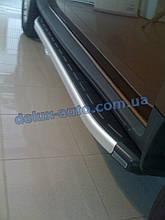 Боковые пороги алюминиевые elegant Дачия Дастер 2010-2018 Пороги площадки алюминиевые на Dacia Duster с 2010