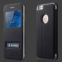 "Чехол книжка Baseus Smart Cover для iPhone 6 (4,7"") Black натуральная кожа"