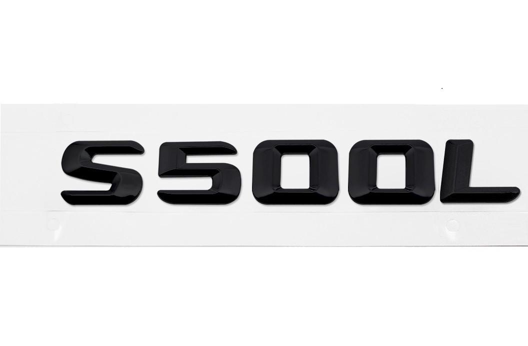 Матовая Эмблема Шильдик надпись S500L Мерседес Mercedes