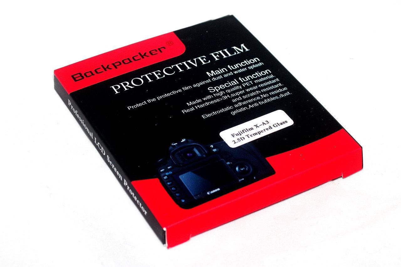 Защитное стекло Backpacker для LCD экрана фотоаппаратов Fujifilm X-A5, X-A10, X-A20 ( на складе )
