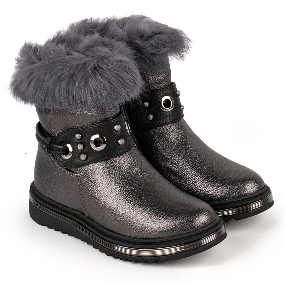Ботинки зимние для девочек Kimboo 32  платина 980626
