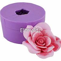 Силиконовая форма Роза Вивальди средняя 3D для мыльного букета