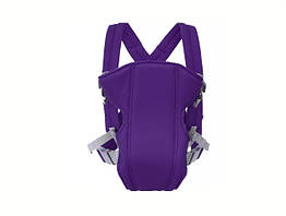Сумка-кенгуру SUNROZ YEBD-2 Baby Carrier рюкзак для переноски ребенка Фиолетовый SUN0982, КОД: 146372