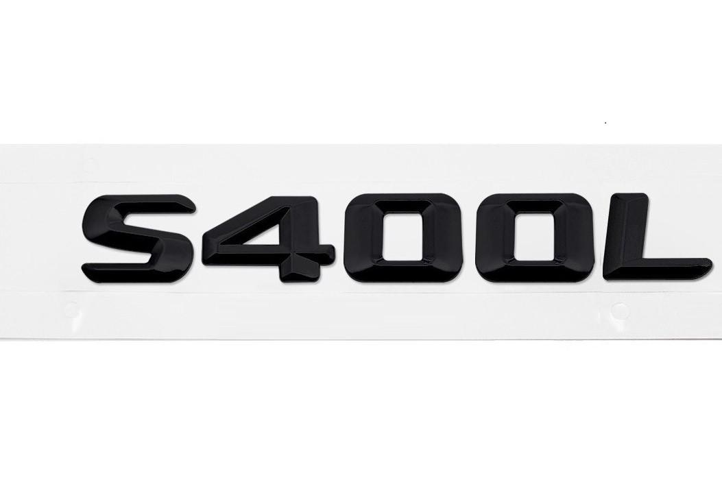 Матовая Эмблема Шильдик надпись S400L Мерседес Mercedes