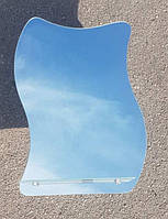 Зеркало волнистое с полочкой для ванной комнаты 60х45 см