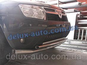 Защита заднего бампера труба двойная Дачия Дастер 2010-2018 Дуга двойная D70-42 на Dacia Duster 2010-2018