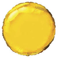 Фольгированный шар Ультра Круг 18см х 45см Золотой
