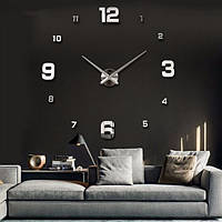 Часы настенные круглые большие 3D 4205 Silver