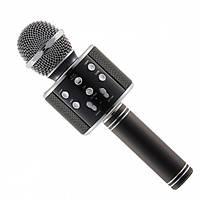 Беспроводной микрофон для караоке Wster WS858 Black 488-01, КОД: 395876