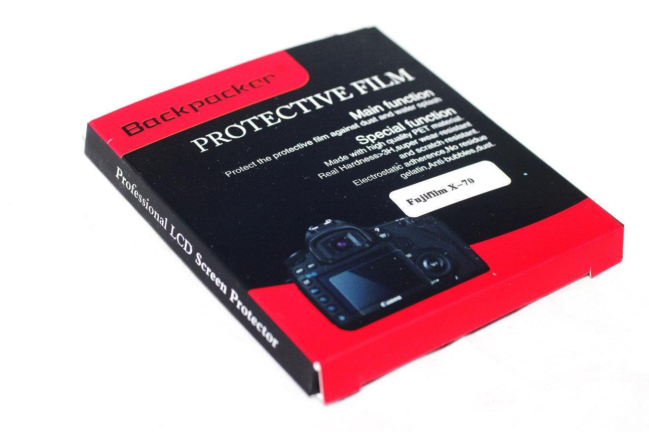 Защитное стекло Backpacker для LCD экрана фотоаппаратов Fujifilm X70 ( на складе )