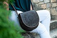 Кожаная женская сумка, шоколадная уникальная сумочка, сумка через плечо, фото 1