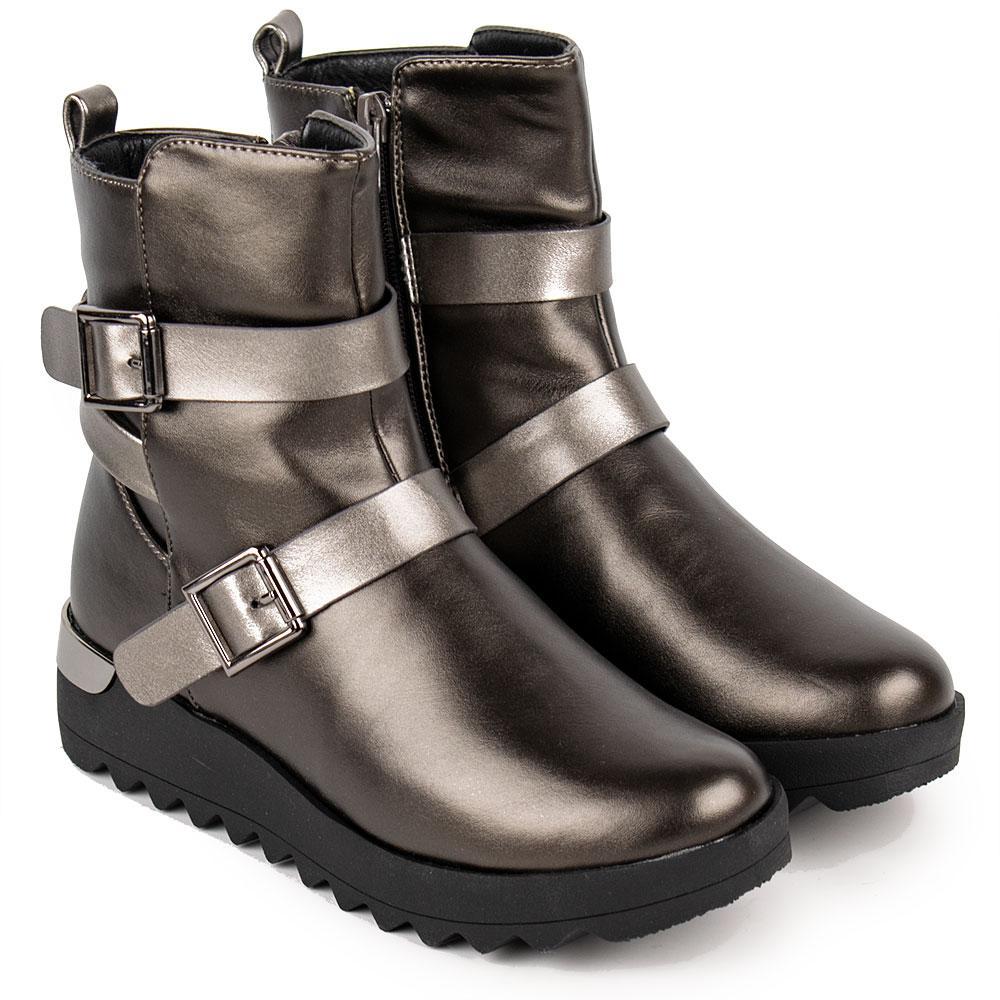 Ботинки зимние для девочек Kimboo 34  платина 980631