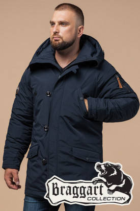 Темно-синяя мужская зимняя куртка Braggart Arctic (р. 48-56) арт. 2694 F, фото 2
