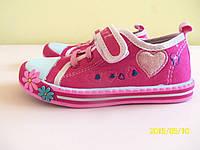 Кеды мокасины детские на девочку EEB.B 25, 27,  30 р. Детская летняя обувь. Текстильная обувь