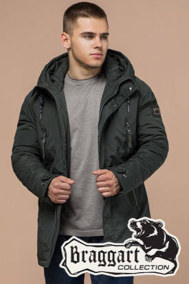 Мужская стильная зимняя куртка-парка (р. 46-54) арт. 3587S, фото 2