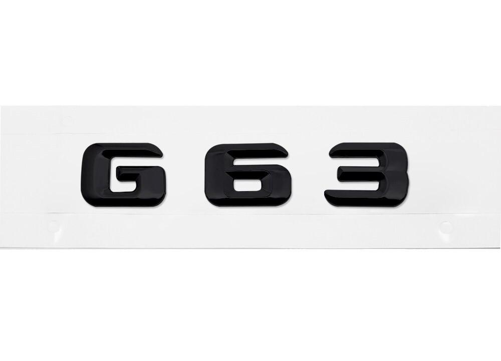 Матовая Эмблема Шильдик надпись G63 Мерседес Mercedes
