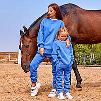 Женский спортивный костюм Family Look синий, фото 1