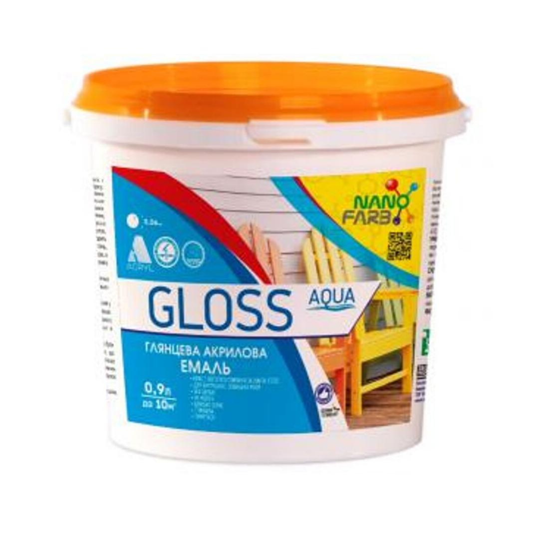 Акриловая эмаль для дерева и металла NanoFarb Gloss 0.9л