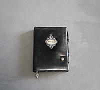 Необычный кожаный блокнот записная книга мужчине с состаренными в линию