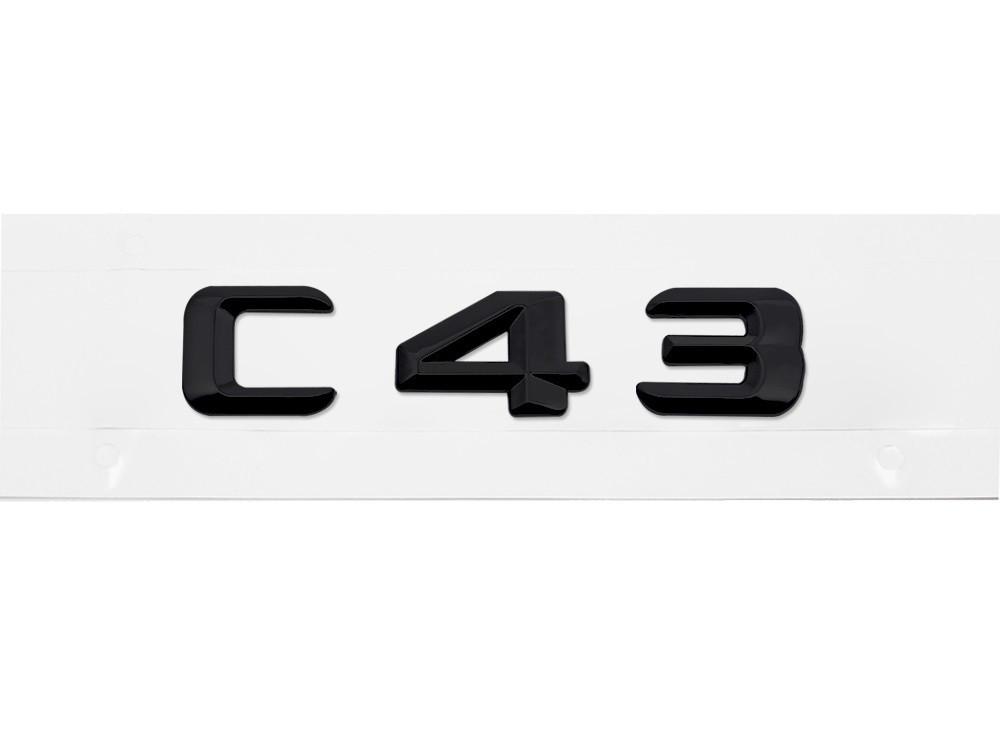 Матовая Эмблема Шильдик надпись C43 Мерседес Mercedes