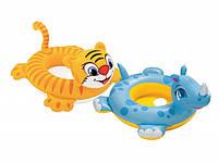 Надувной круг/трусики 58511 Интекс, для 3-хлетнего возраста и старше, носорог/тигр, диаметр 94 см