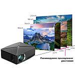 Проектор мультимедийный с Wi-Fi кинопроектор видеопроектор Wi-light C80 Проектор для дома Оригинал, фото 9