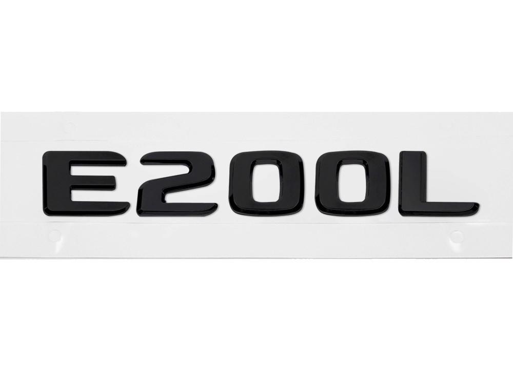 Матовая Эмблема Шильдик надпись E200L Мерседес Mercedes
