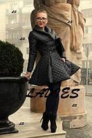 Пальто женское ,очень стильное !!!Стеганая плащовка на синтепоне, цвет черный АЛ № 0872