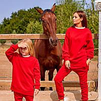 Женский спортивный костюм Family Look красный