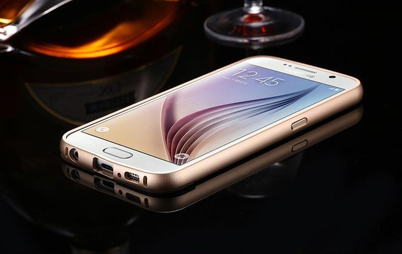 Металлический бампер для Samsung S6 G920 с задней панелью