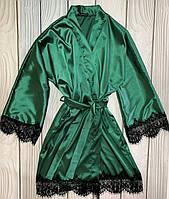 Стильный женский халат из нежной атласной ткани