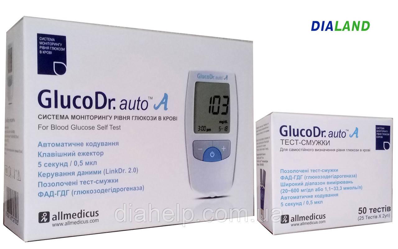 Глюкометр ГлюкоДоктор авто А (GlucoDr. auto A) AGM-4000 + 50 полосок