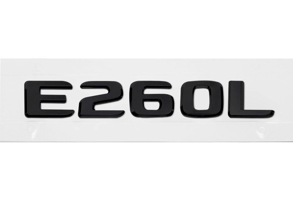 Матовая Эмблема Шильдик надпись E260L Мерседес Mercedes