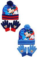 Шапка+перчатки для мальчиков оптом, DISNEY,  № MIC-A-KNEST-102