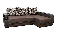 Угловой диван Garnitur.plus Граф правосторонний коричневый 245 см DP-352, КОД: 181407